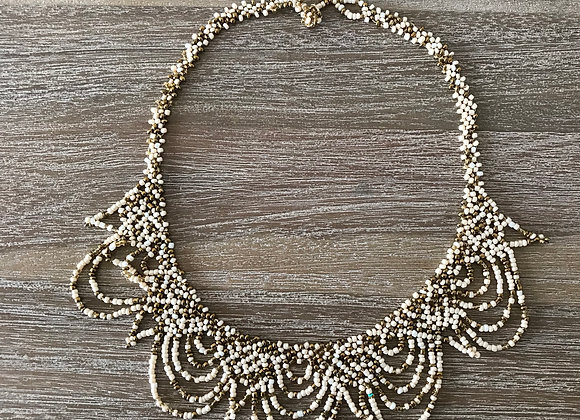 The Goddess Necklace (White & Gold)