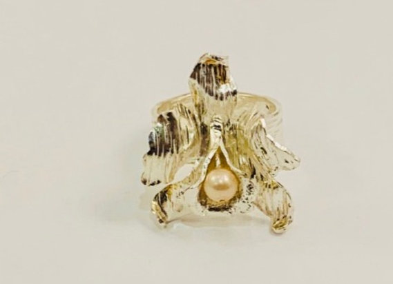 Caribbean Orchid Ring (Silver)