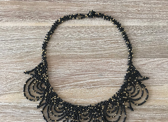 The Goddess Necklace (Black & Gold)