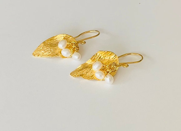 Wild Caribbean Leaves Earrings (gold)