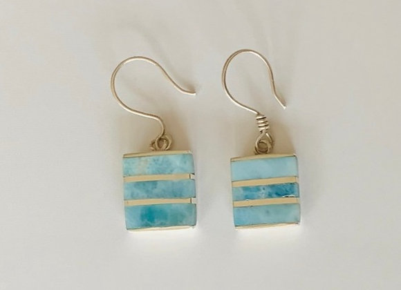 Chic Larimar Earrings
