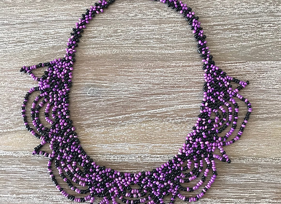 The Goddess Necklace (Purple & Black)