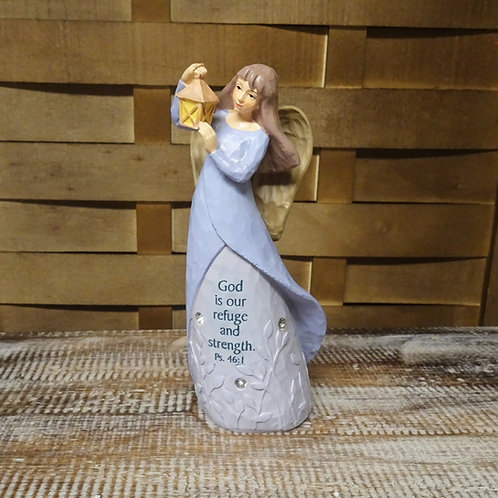 God is our Refuge Angel Ornament