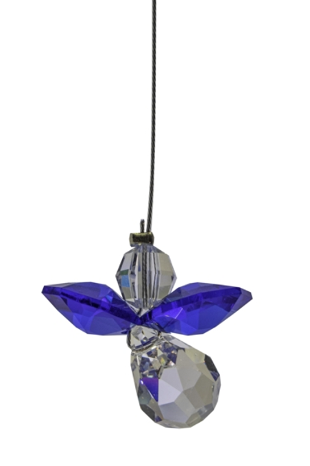 Classic Crystal Guardian Angel – Majestic Blue