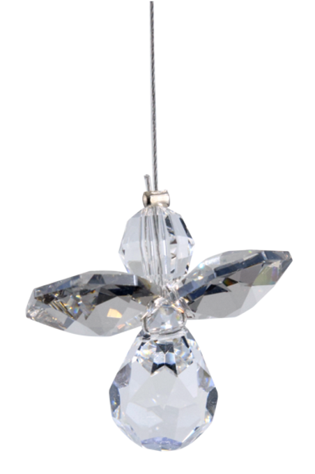 Classic Crystal Guardian Angel – Silver
