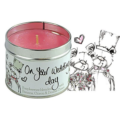 Tracey Russell Occasion Candle - On Your Wedding Day