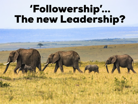 Followership: why it's becoming more important than leadership