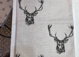 Stag print table runner