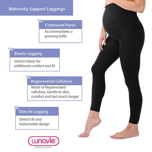 3f258a000469 Lunavie Maternity Support Leggings