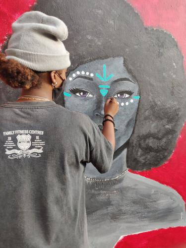 Chantel painting