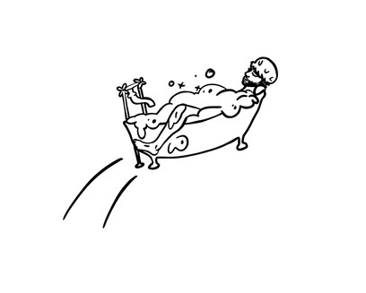 simple male bathtub