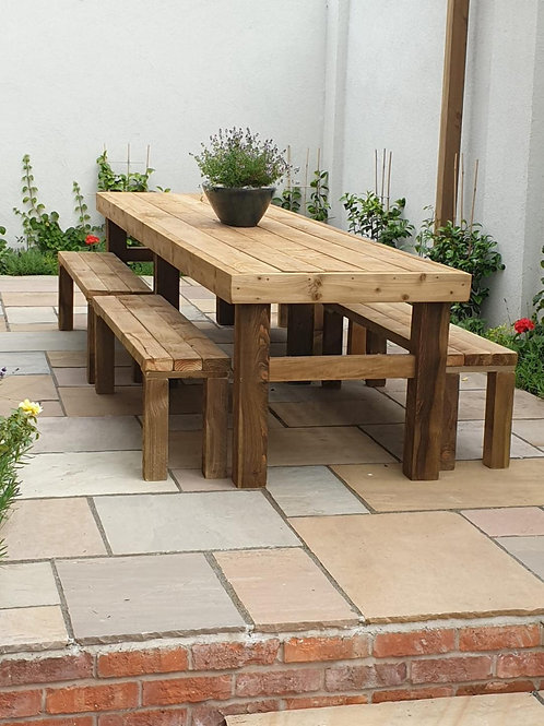 Rustic Bench with 4 seats