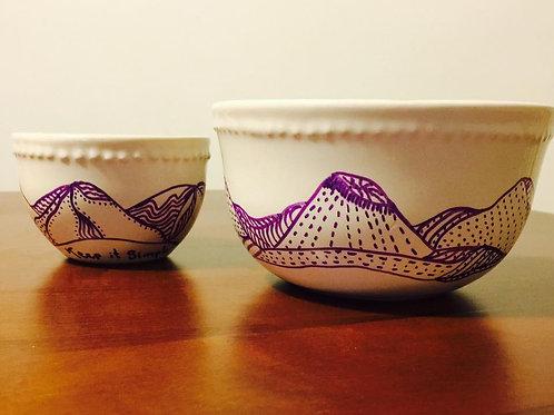 bowls diseños con montañas
