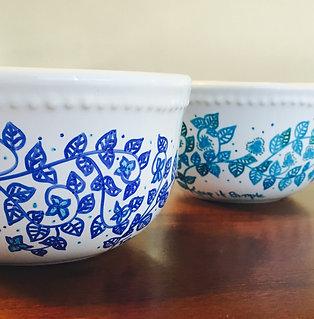 bowls diseños flores