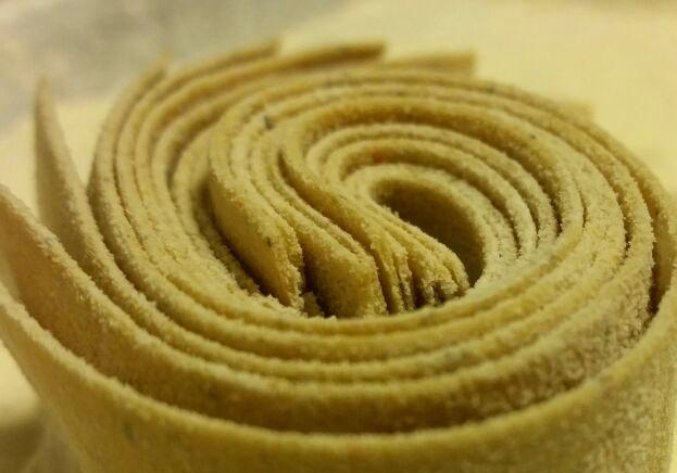 Sfoglia di pasta vegetale