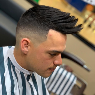 Zero Fade Spiky Hairstyle
