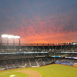 I got free tickets to the #mets today thanks to my mother. I don't like baseball on tv, but it's pre