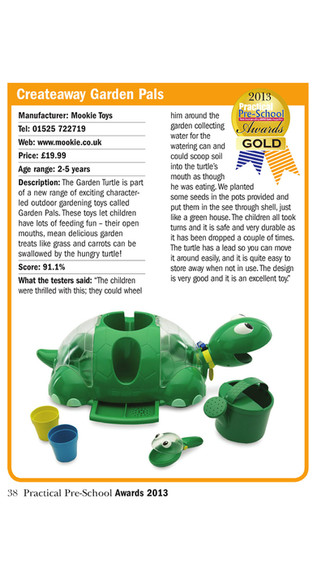 Gold Award - Garden Turtle