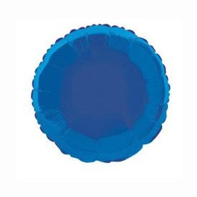 "Balloon Foil 18"" Round Royal Blue"
