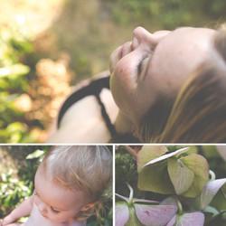 Schwangerschafts-Shooting im Garten