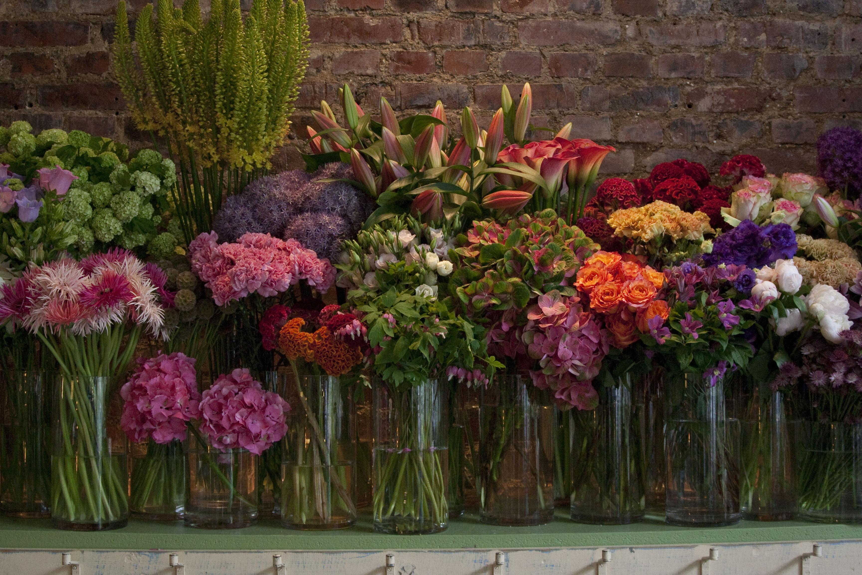 Blumenladen in Town