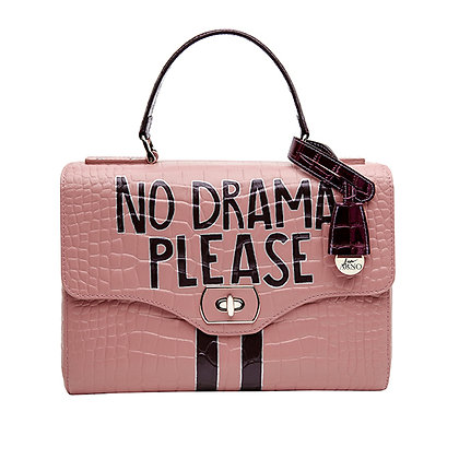 NO DRAMA PLEASE_ PINK BAG