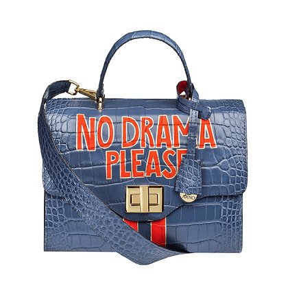 NO DRAMA PLEASE_ BLUE BAG