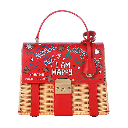 «I AM HAPPY» RED BAG