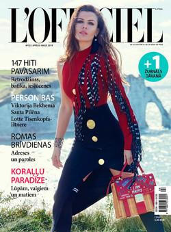 IRINA BOGDAN for cover story L'OFFIC