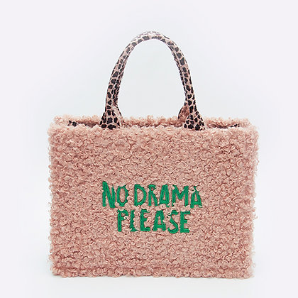 "«No drama"" new design faux wool bag"