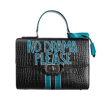 NO DRAMA PLEASE_ BLACK BAG