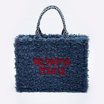 "«No drama"" new design faux wool bag"
