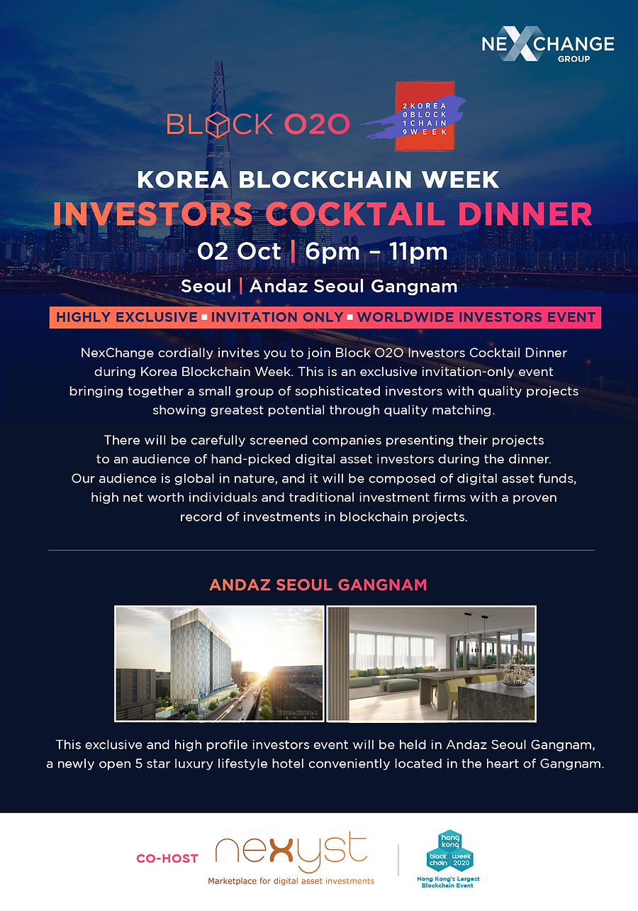 BO2O Investors Cocktail Dinner at Korea