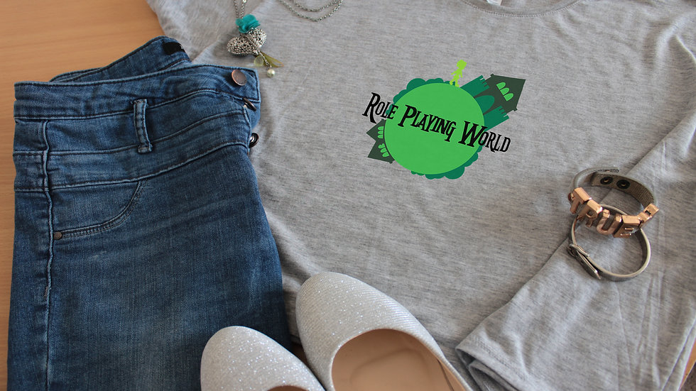 'RPW World' Boxy Crop Women's Top