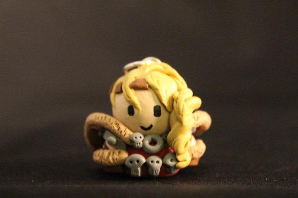 Astrid Train Your Dragon Polymer Clay Chibi Charm
