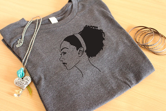'Pulled Back' Natural Hair Unisex Graphic Tee