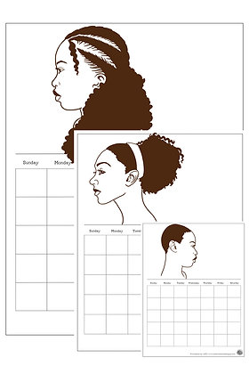 Natural Hair Printable Calendars