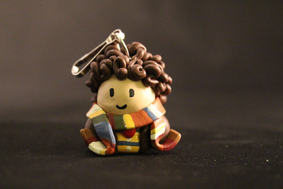 4th Doctor Who Polymer Clay Chibi Charm