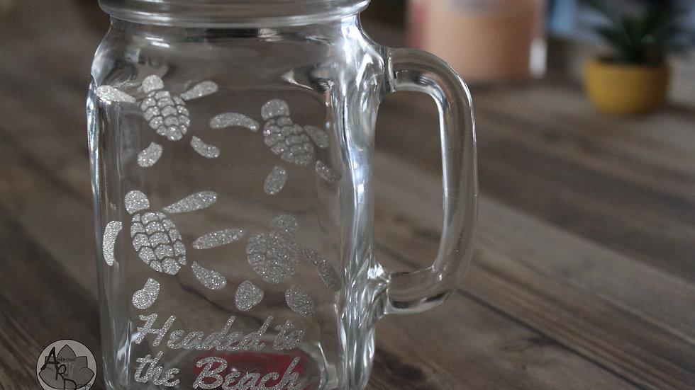 BEACH TURTLES Mason Jar Mug