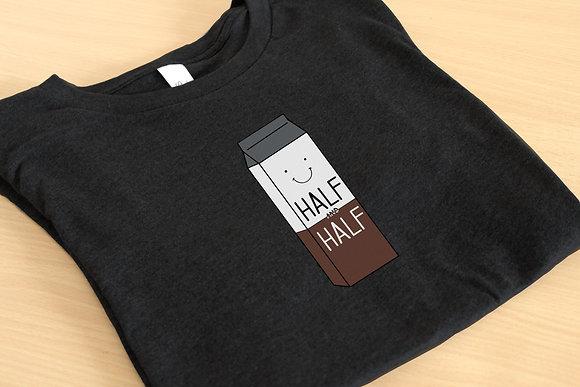 'Half & Half' Unisex Graphic Tee Design