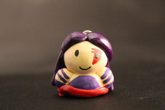 Psylocke Polymer Clay Chibi Charm