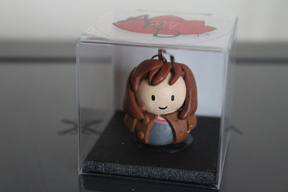 Donna Noble Dr Who Polymer Clay Chibi Charm