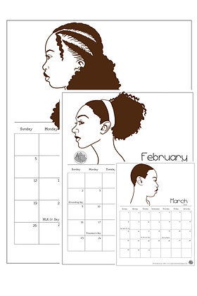 2020 Natural Hair Calendar Vertical