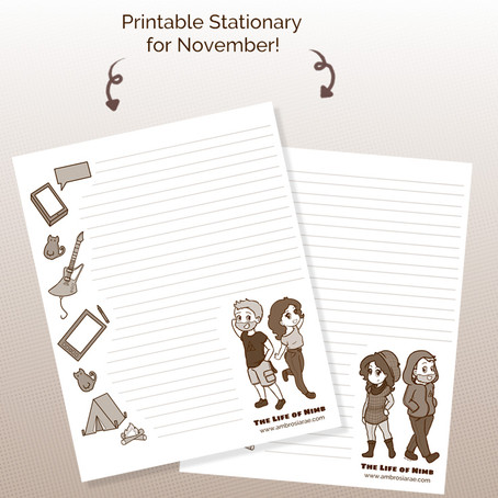 BONUS CONTENT - November Printable Stationary