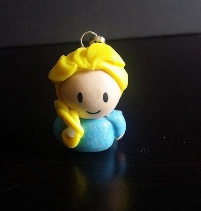 Elsa of Arendelle Disney Princess Polymer Clay Chibi Charm