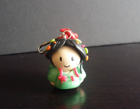 Vanellope Von Schweetz Disney Princess Polymer Clay Chibi Charm