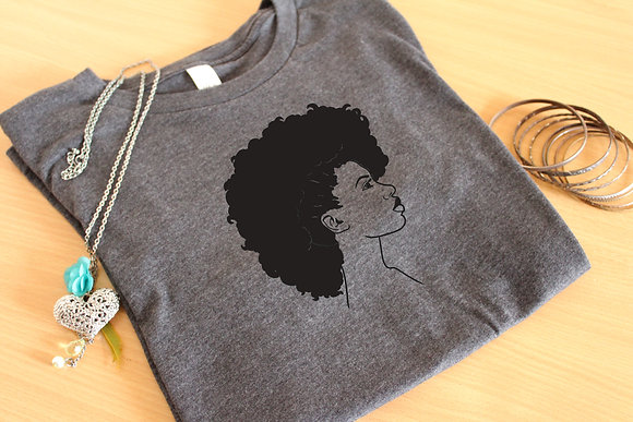 'Fro-Mohawk' Natural Hair Unisex Graphic Tee