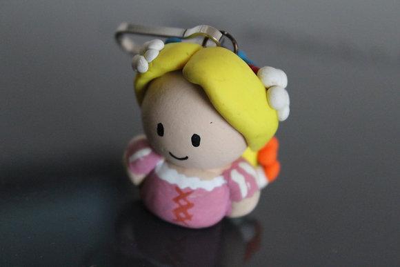 Rapunzel Princess Polymer Clay Chibi Charm