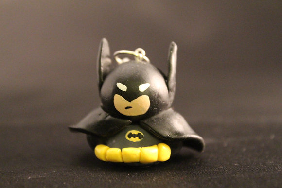 Batman Polymer Clay Chibi Charm