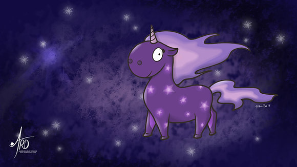 Galaxy Unicorn Desktop Background Wallpaper